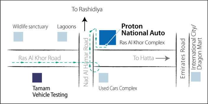 Proton Location Map